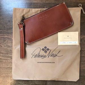 NWOT Patricia Nash St. Croce Tan Leather Clutch